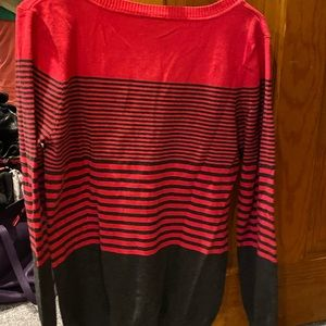 Sweaters - Pink and black striped sweater